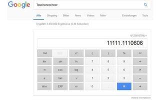 Google Taschenrechner