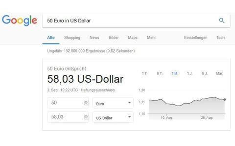 Google Währungsumrechner