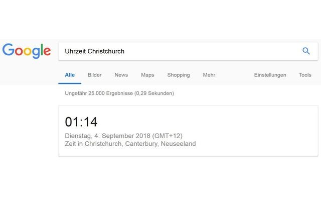 Google weltweite Uhrzeit