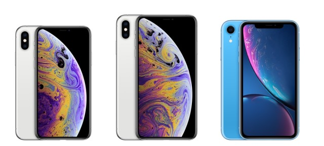 iPhone XS, iPhone XS Max und iPhone XR (v.l.n.r.)